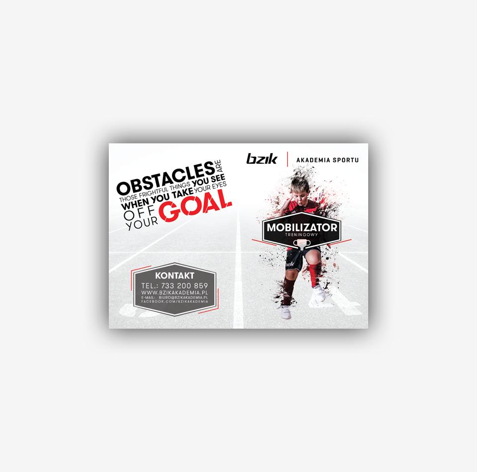 Projekt graficzny katalogu odzieży - Bzik Akademia Sportu