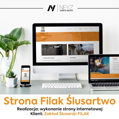 Wykonanie strony www.filak-slusarstwo.pl