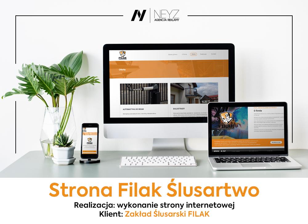 Wykonanie strony www.filak-slusarstwo.pl