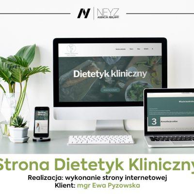 Wykonanie strony www.ewapyzowska-dietetyk.pl
