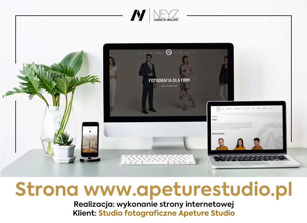 Wykonanie strony www.apeturestudio.pl