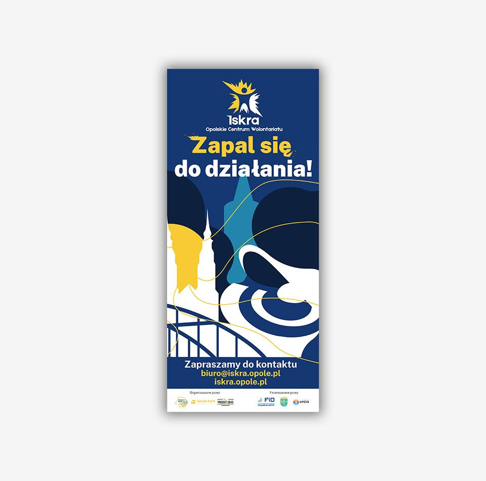 Projekt graficzny Rollup organizacja wolontariacka ISKRA Opole