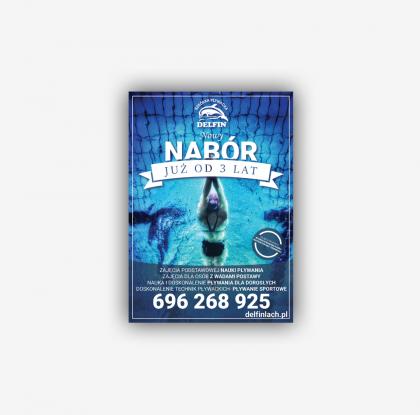 Materiały reklamowe dla Delfin Szkółka Pływacka